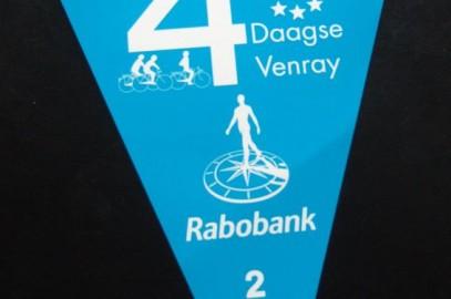 Blauw vlaggetje Fietsvierdaagse Venray is geld waard.