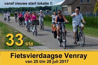 De voorinschrijving voor de 33ste Fietsvierdaagse Venray is zojuist geopend.